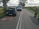Wypadek koło Czaplinka. Jedna osoba trafiła do szpitala [ZDJĘCIA]