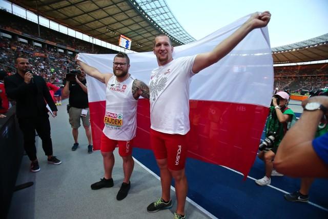Rok temu w Berlinie Wojciech Nowicki (z prawej) wygrał rywalizację w rzucie młotem, a drugi był Paweł Fajdek