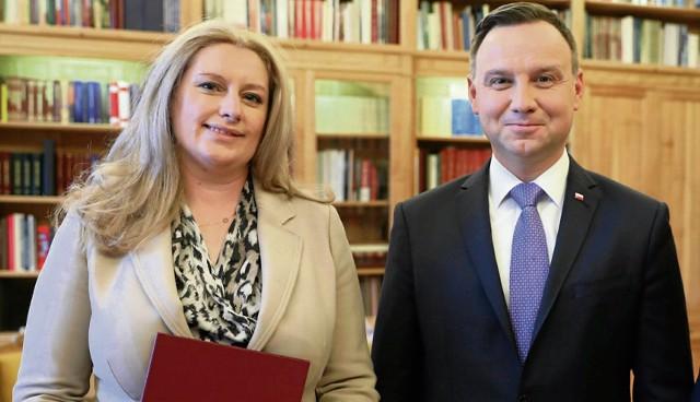 Joanna Lemańska pytana o przejawy zażyłości z prezydentem Andrzejem Dudą nie zaprzecza.