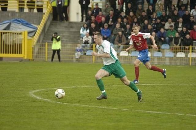 Szymon Gibczyński jeśli nie znajdzie drużyny grającej w wyższej niż III liga, będzie chciał powrócić do Słupska.