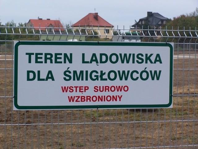 Otwarcie lądowiska dla helikopterów w Oleśnie