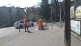 Chełmno. Rozpoczęło się malowanie pasów na ulicach Chełmna. Zdjęcia