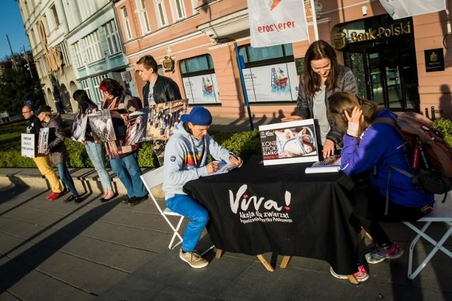 Dziś, 16 kwietnia na ulicy Mostowej w Bydgoszczy pojawili się aktywiści organizacji Viva! Akcja dla zwierząt by informować bydgoszczan o okrucieństwie chowu klatkowego.Czytaj dalej >>FLESZ ZMIANY KLIMATU