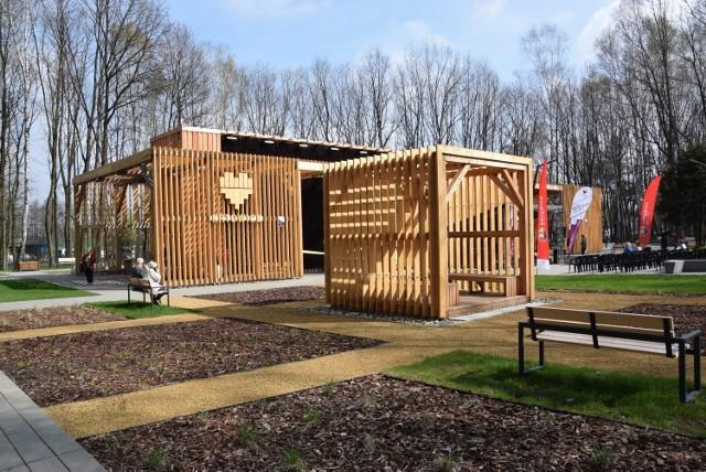 Tężnia solankowa w Parku Zadole została wybudowana w ramach Budżetu Obywatelskiego