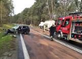 Zderzenie opla z ciężarówką na drodze wojewódzkiej nr 871 między Stalową Wolą a Jamnicą