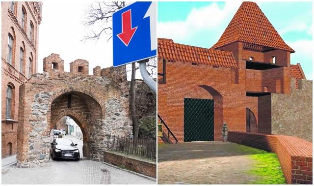 Tak wygląda dziś wschodnia pierzeja zamku krzyżackiego, a tak według Pawła Moszczyńskiego to samo miejsce wyglądało kiedyś