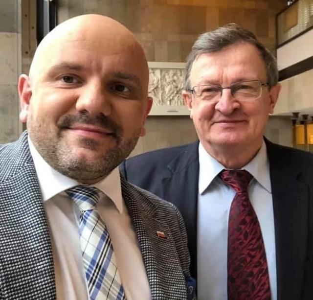 Mariusz Gosek i Tadeusz Cymański