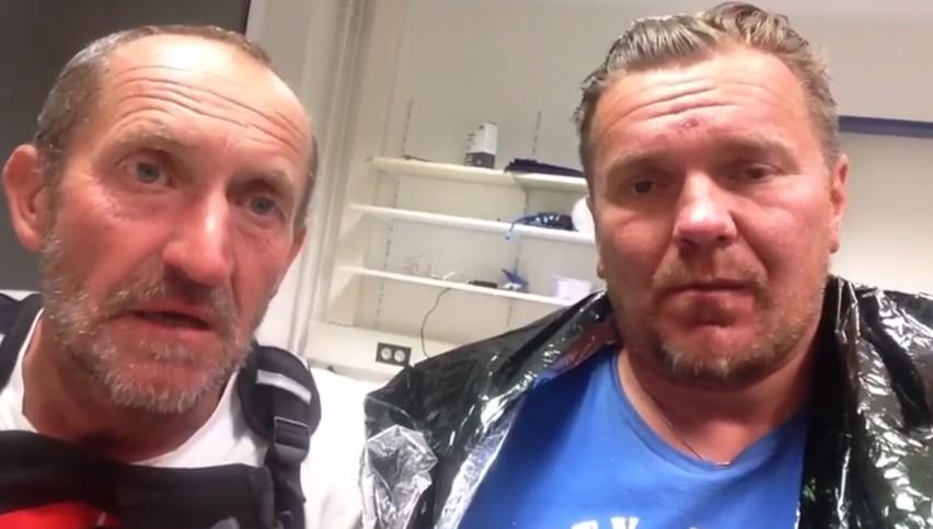 Krzysztof Więckiewicz i Piotr Furman wysłali film ze szpitala.