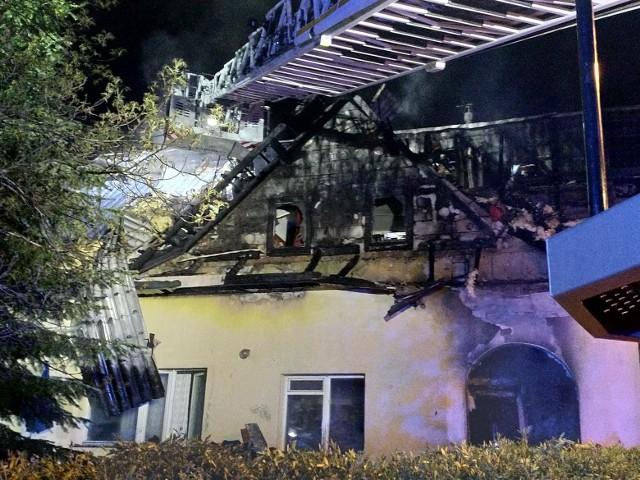 Pożar w Balicach. Paliło się na osiedlu Parkowym