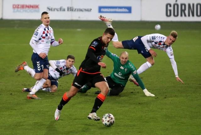 Filip Szymczak w meczu przeciwko Górnikowi Zabrze