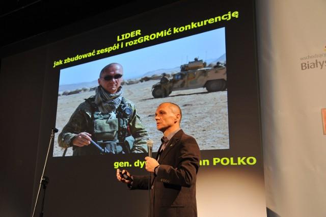 Wykłady gen. Romana Polko poprzedziły ogłoszenie wyników rankingu Podlaskiej Złotej Setki Przedsiębiorstw. Gala odbyła się w październiku.