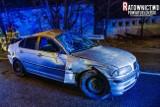 21-latek w BMW spadł z wiaduktu i kilkukrotnie dachował (zdjęcia)