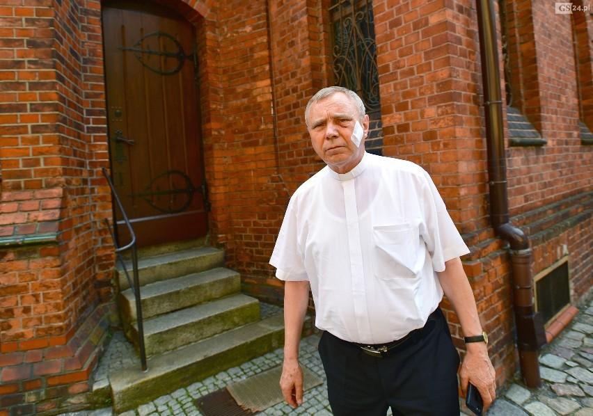 Szokujący atak w kościelnej zakrystii. Bandyci pobili księdza i pracownika parafii Bazyliki św. Jana Chrzciciela w Szczecinie