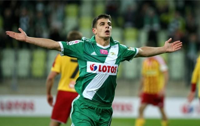 Piotr Grzelczak strzelił jesienią pięć goli dla Lechii w T-Mobile Ekstraklasie