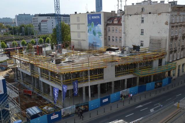 Budowana biurowca Wrocław101 przy ul. Piłsudskiego 101