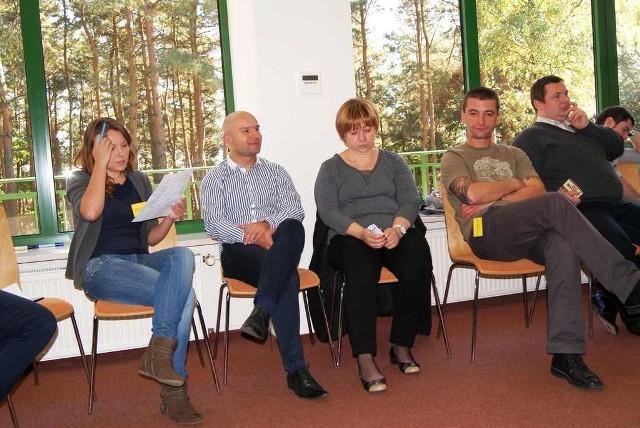 Przedstawiciele Wąchocka w Serocku. Od lewej: Anna Podzielna, Daniel Szczodry, Marcelina Miernik, Sebastian Staniszewski