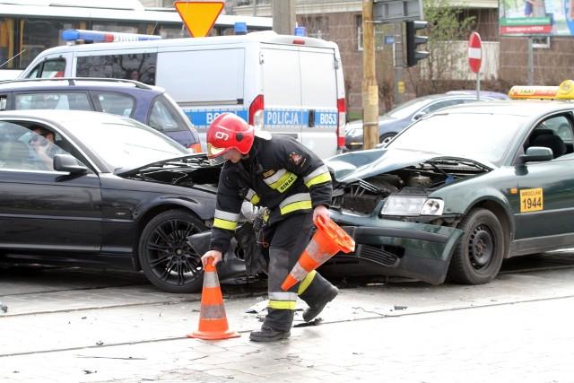 Wypadek na skrzyżowaniu Dyrekcyjnej i Gajowej