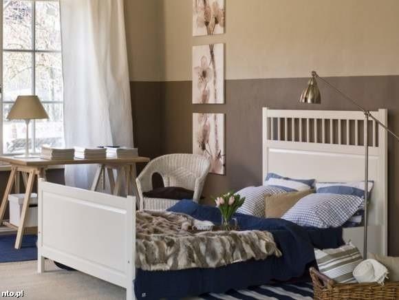 Brązy i beże we wnętrzu sypialniBeżowa sypialnia - uspokaja i tworzy nastrój szczególnie z wieczornym oświetleniem.