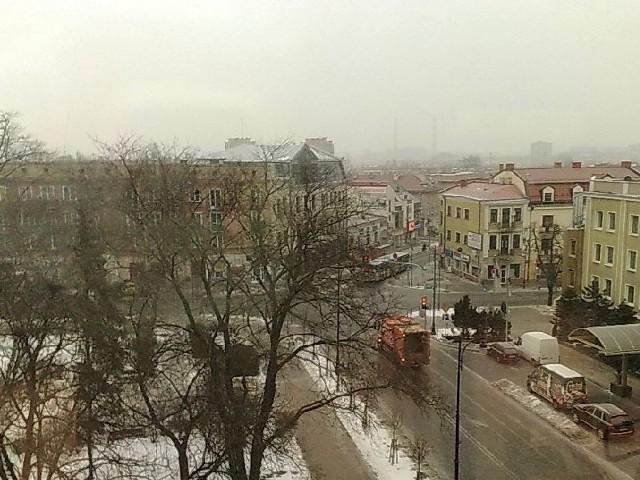padał w Białymstoku przed 7 rano