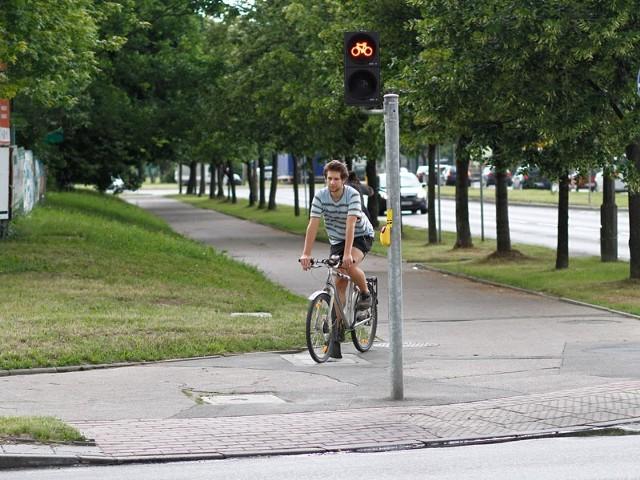Ścieżka rowerowa na ulicy Składowej