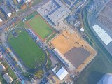 Polonia Środa Wielkopolska: Trwa budowa nowego stadionu dla Polonii - zobacz zdjęcia z drona