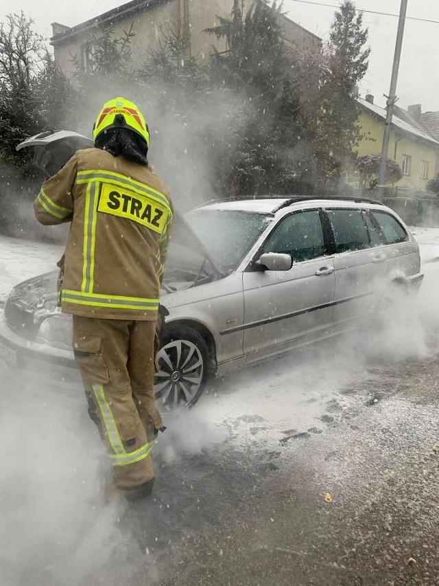 W Złocieńcu zapalił się samochód osobowy