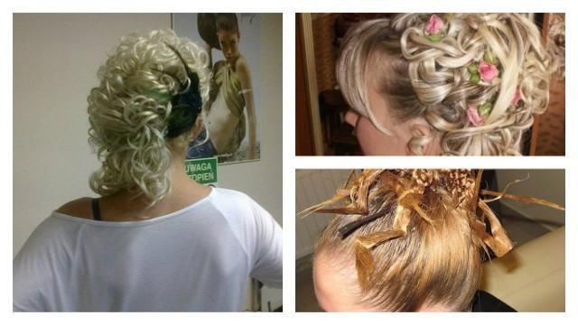 Najgorsze fryzury weselne: Wesele, to czas gdy każda z Pań chce wyglądać najlepiej jak potrafi. Niestety, nie każdy fryzjer to wirtuoz grzebienia, a efekty pracy nie których salonów potrafią przyprawić o zawrót głowy. Oto najgorsze weselne fryzury.