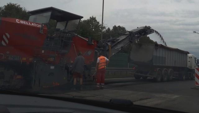 Prace remontowe na DTŚ w Świętochłowicach powodują ogromne korki