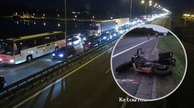 Wypadek na A4 we wtorek wieczorem spowodował ogromne korki.