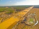 Tak budują autostradę A1. Odcinek H Woźniki - Zawodzie ZDJĘCIA LOTNICZE LUTY 2017