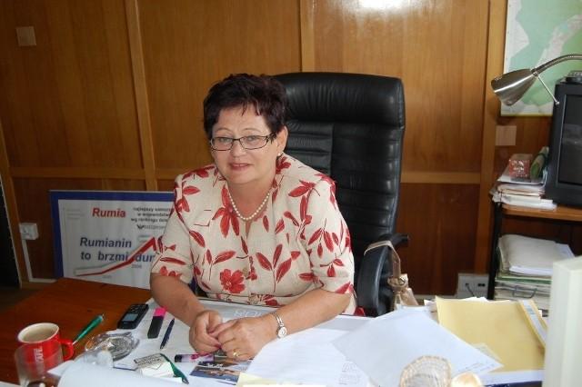 Burmistrz Rumi Elżbieta Rogala-Kończak czeka dziś na odpowiedź