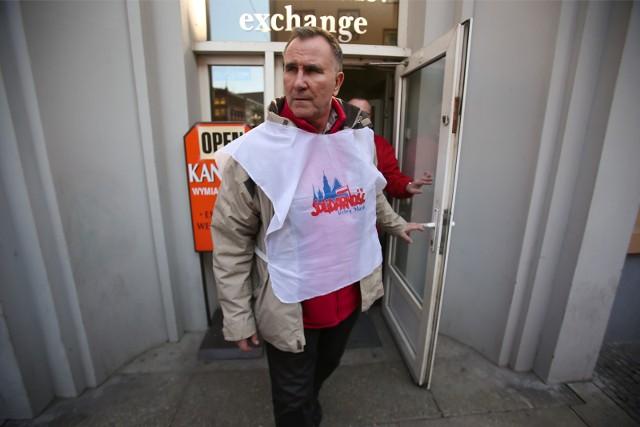 Na zdjęciu Kazimierz Kimso (zdjęcie archiwalne z protestu w 2015 roku)