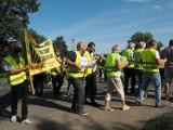 Kolejny protest mieszkańców na ulicy Strykowskiej. Boją się tworzonych planów zagospodarowania przestrzennego ZDJĘCIA