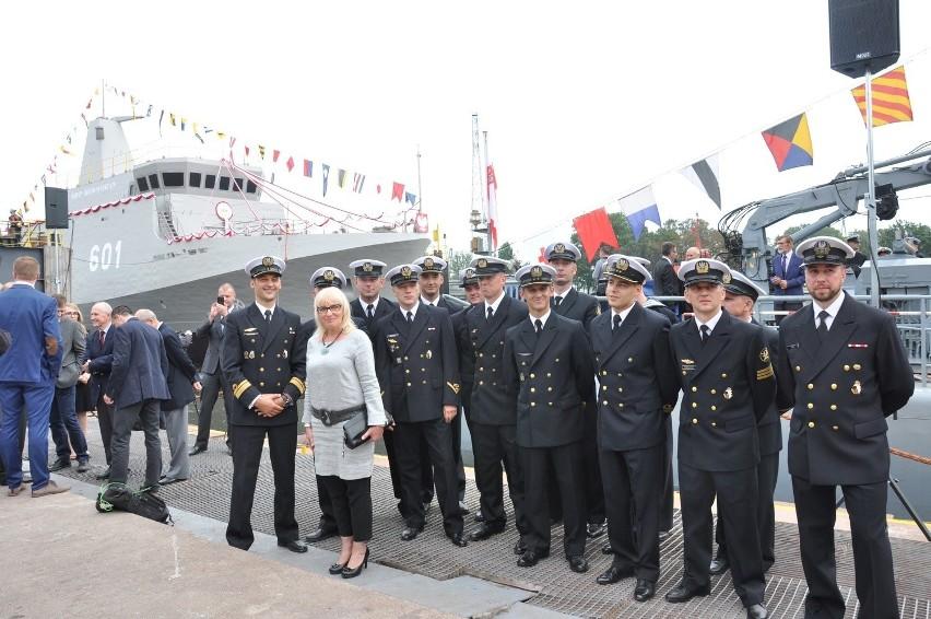 Wodowanie Kormorana w stoczni Remontowa Shipbuilding w...