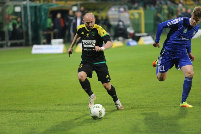 Tomasz Foszmańczyk był wyróżniającym się piłkarzem GKS w meczu z Miedzią