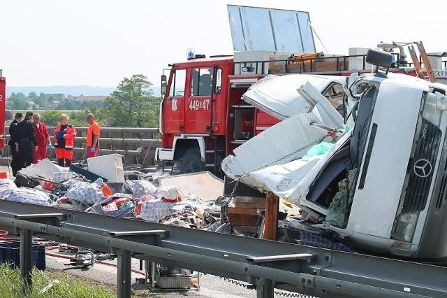 Ukraiński bus tuż po wypadku.