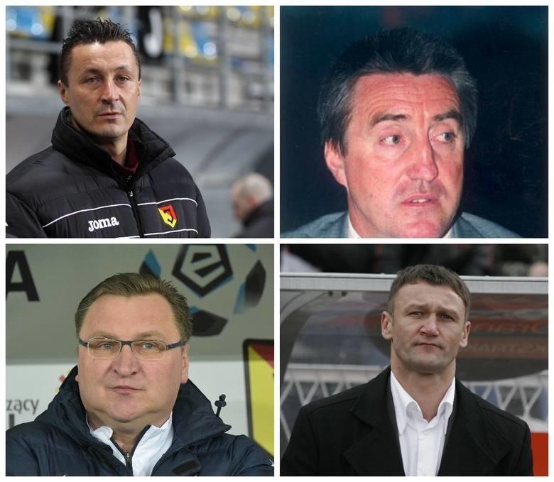 Przedstawiamy wszystkich trenerów Jagiellonii Białystok w ekstraklasie. Niektórzy z nich drużynę prowadzili nawet dwa razy. Pamiętacie ich wszystkich?