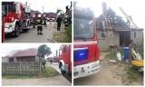 Liza Stara. Pożar domu w gminie Poświętne. Rodzina z małym dzieckiem została bez dachu nad głową (zdjęcia)