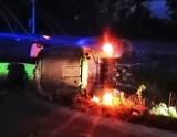 Wypadek w Brulinie-Lipskim, gm. Szulborze Wielkie, 5.06.2021. Policja szuka świadków. Zdjęcia