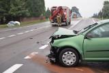 Wypadek w Orłach. W zderzeniu volkswagena z hondą poszkodowane zostały dwie funkcjonariuszki Straży Granicznej [ZDJĘCIA]