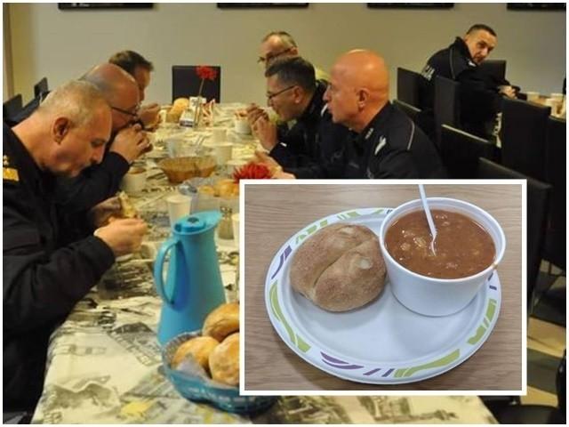 Co jedzą policjanci podczas szczytu klimatycznego COP24 w Katowicach? Funkcjonariusze publikują zdjęcia w internecie.