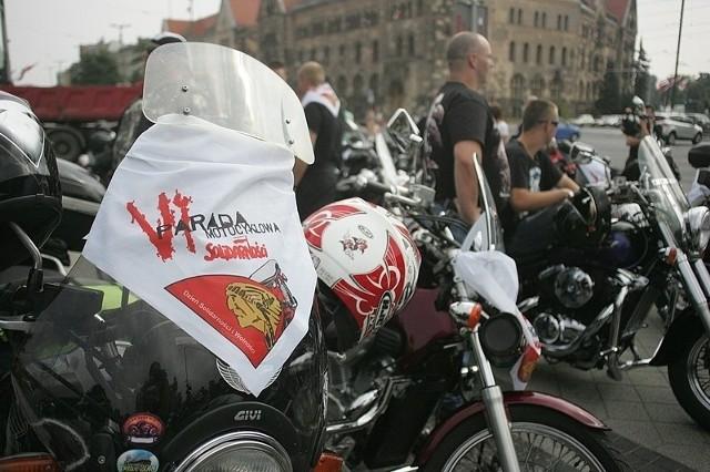 Motocykliści przejechali przez Poznań