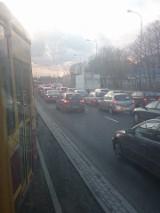 Na trasie W-Z w kierunku Retkini korek! [Zdjęcie Czytelnika]