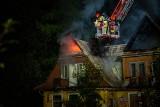 Zakopane. Poranny pożar domu na Bulwarach Słowackiego [ZDJĘCIA]
