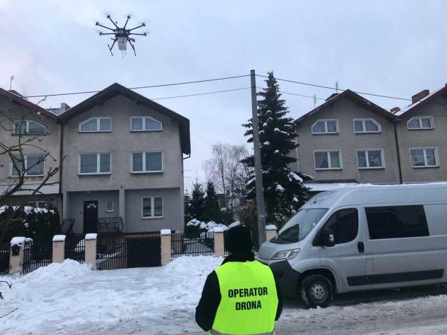 Dron Straży Miejskiej w akcji