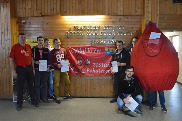 Krwiodawcy z Zespołu Szkół Zawodowych w Oleśnie
