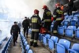 Eksplozja i wybuch paniki na stadionie!