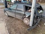 Wypadek trzech aut na ul. Suchowolca. Do szpitala trafił pieszy potrącony przez jeden z samochodów [ZDJĘCIA, WIDEO]