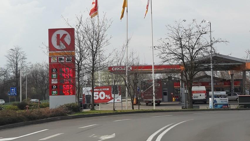 Na Opolszczyźnie średnia cena benzyny bezołowiowej 95 to 4,44 zł, PB 98 - 4,87 zł, ON - 4,62 zł i LPG - 2,01 zł. Sprawdziliśmy natomiast ceny na niektórych stacjach w Opolu, które kształtują się następująco...