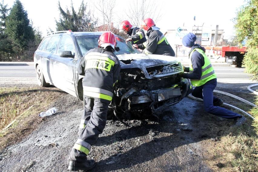 Pożar samochodu w Radwanicach